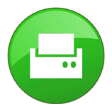 green fax machine icon